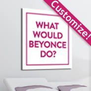 Custom What Would wall canvas