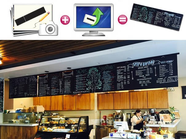 chalkboard menu decal