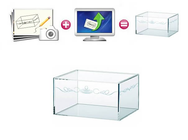 engraved plexiglass box