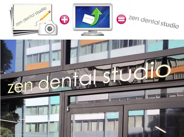 Zen dental metal and acrylic sign