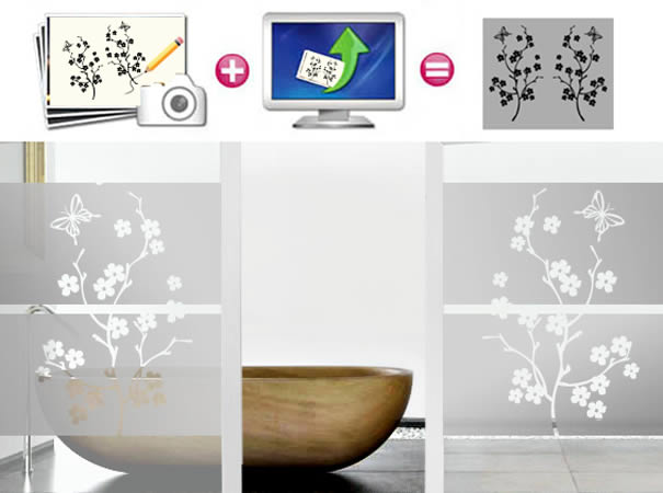 frosted wall decals