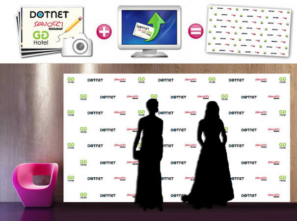 retractable back drop step and repeat