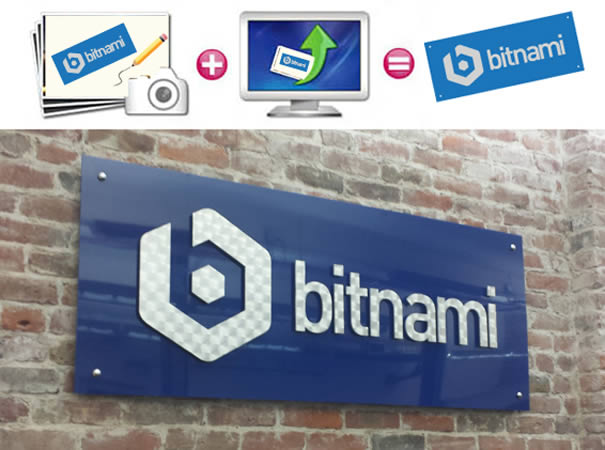 Custom bitnami logo sign
