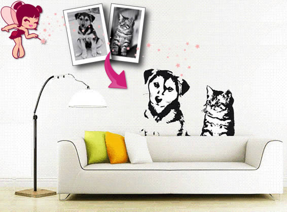 Custom wall stickers for home