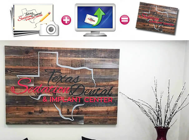 Custom reclaim wood Signs