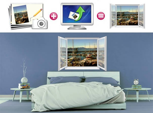 Customize your own faux window mural dezign with a z for Design your own mural