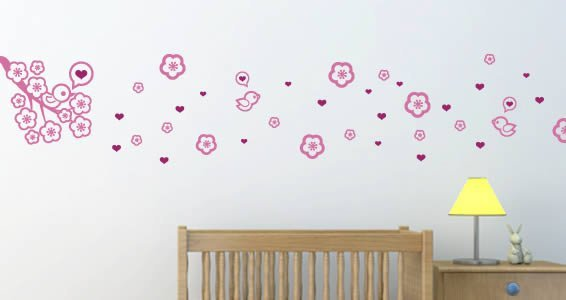 Cute Baby Birds wall decals