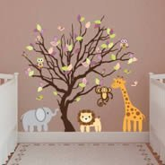 Animal Tree nursery wall decals