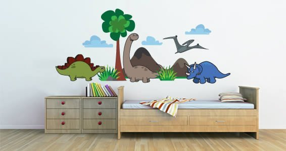 Amazing Cute Dinosaurs Wall Stickers Pack