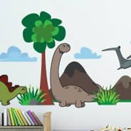Cute Dinosaurs wall stickers pack