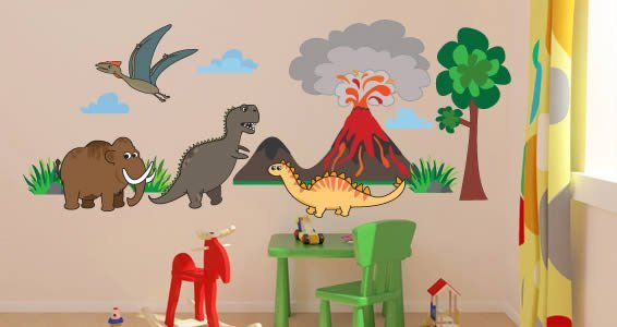 Cute Dinosaurs II Pack Wall Decals