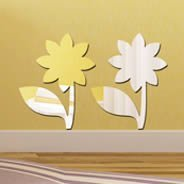 Cute Flowers Acrylic Mirror
