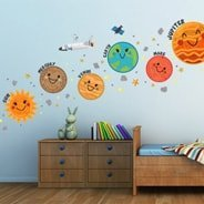 Cute Planets wall decal