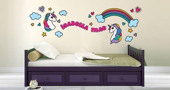 Custom Cute Unicorn Wall Decals