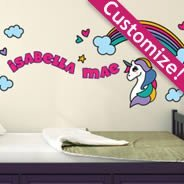 Custom Cute Unicorn wall decals