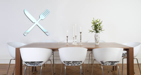 Fork & Knife acrylic wall mirrors