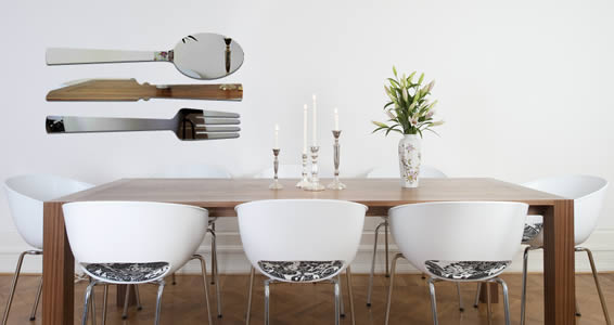 Cutlery wall mirrors