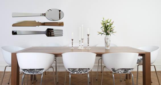 Cutlery wall mirrors