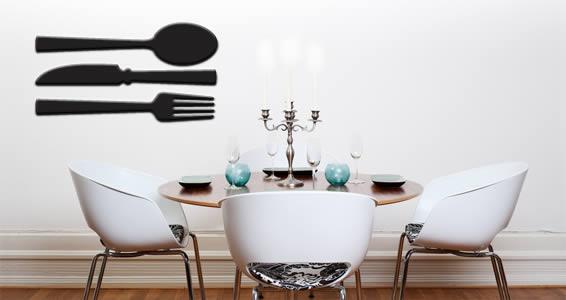 Cutlery Spoon Fork Knife appliques