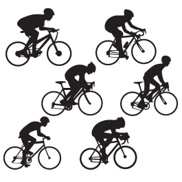 Cyclist pack wall decal