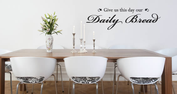 Daily Bread wall decal quotes