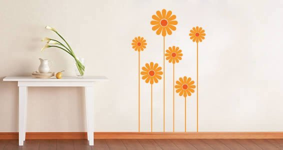 Daisy Flower Wall Decals Dezign With A Z - Yellow wall decals