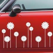 Daisies car decal