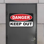 Danger Keep Out sign decal