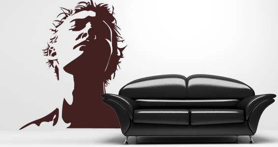 Dark Face wall decals