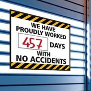 Days With No Accidents dry erase decals