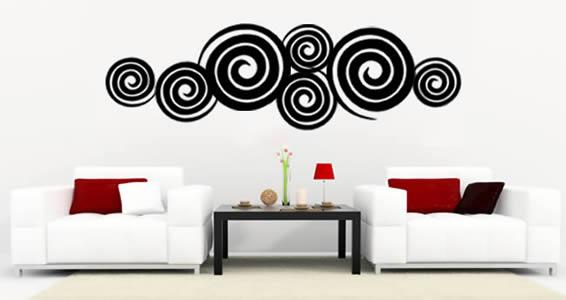 Swirly Swirls wall decal