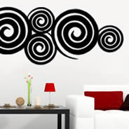 Swirly Swirls wall decal