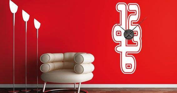 Neon Clock wall stencils