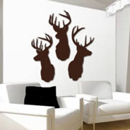 Deer wall applique