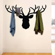 Deer Coat Rack Wall Decal
