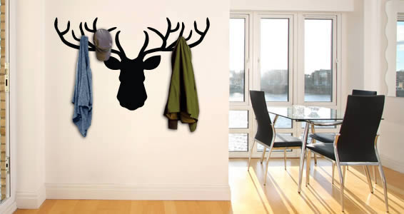 Deer Coat Rack Wall Decal Dezign With A Z