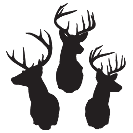 3 Deers car sticker