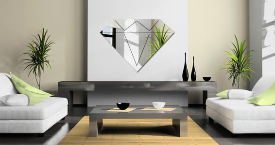 Diamond acrylic mirror