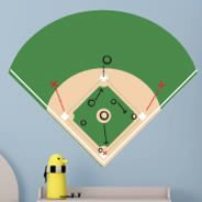 Dry Erase Baseball Field decals