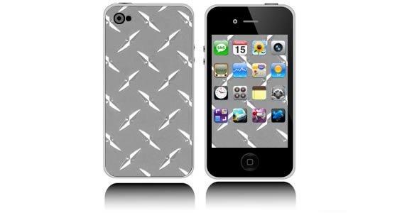 Diamond Plate iPhone decals skin