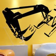 My Digger wall decals