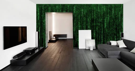 The matrix is everywhere wall murals dezign with a z for Digital wall mural