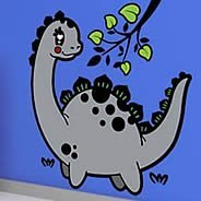 Dinosaurs wall decals for nurseries