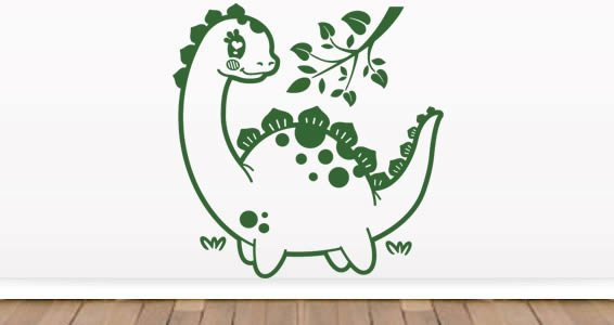Dinosaur wall stickers for children