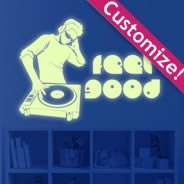 Music glow in the dark wall decals