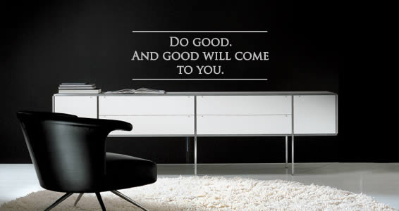 Do Good quote decals