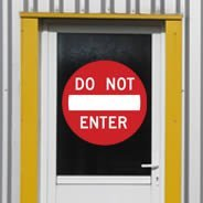 Do Not Enter wall decals