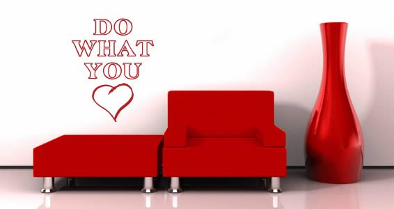 Do What You Love wall quote sticker