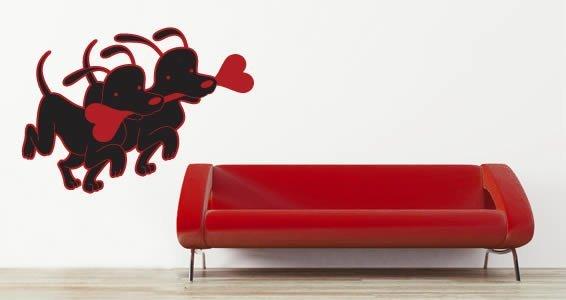 Dog Bones Love decal by Thomas Fuchs