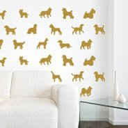 Doggy Dogs wall decals pack